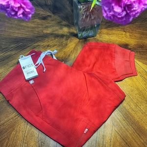 BNWT Figs Red Jogger Pants S-Petite